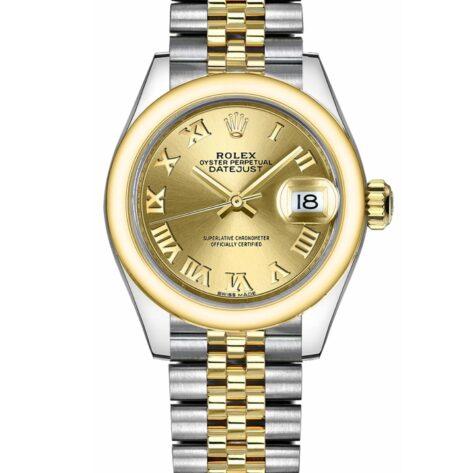 Rolex Datejust 279163 Cadran Champagne Automatique Pour Les Femmes 28mm