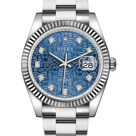 Rolex Datejust 126234 Cadran Bleu Automatique Pour Hommes 36mm