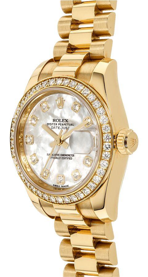 Rolex Datejust 179138 Cadran Automatique En Nacre Blanche Pour Femme 26mm