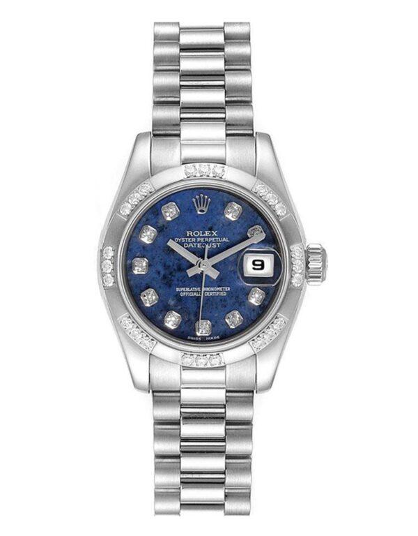 Rolex Datejust 179369 Cadran Lapis Bleu Automatique Pour Femmes 26mm