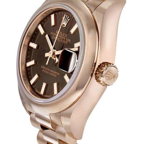 Rolex Datejust 279165 Cadran marron chocolat automatique pour femme 28mm