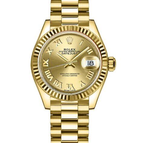 Rolex Datejust 279178 Cadran Champagne Automatique Pour Les Femmes 28mm