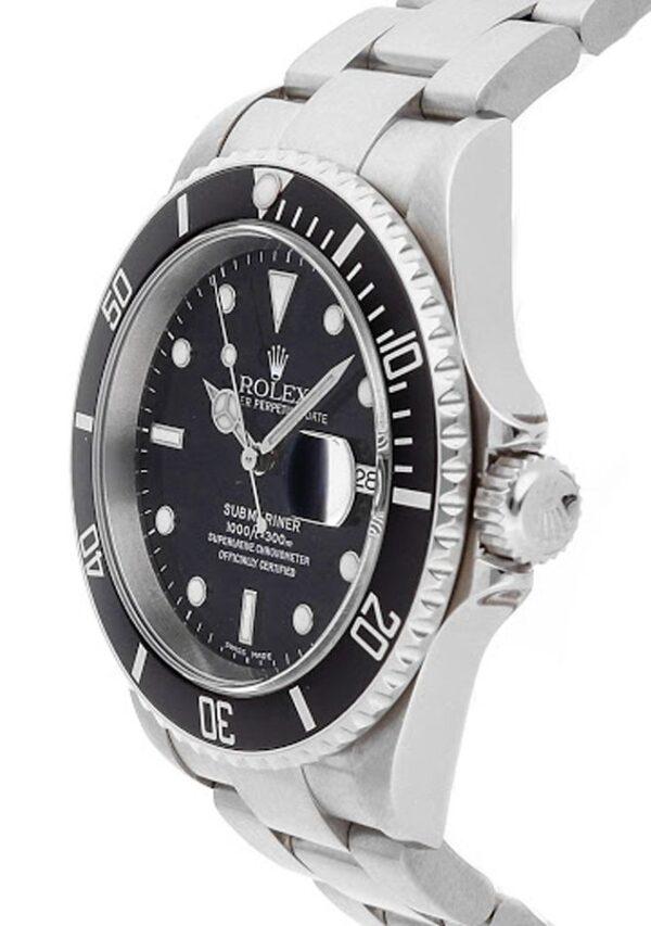 Rolex Submariner Date 16610 Cadran Noir Automatique Pour Hommes 40mm